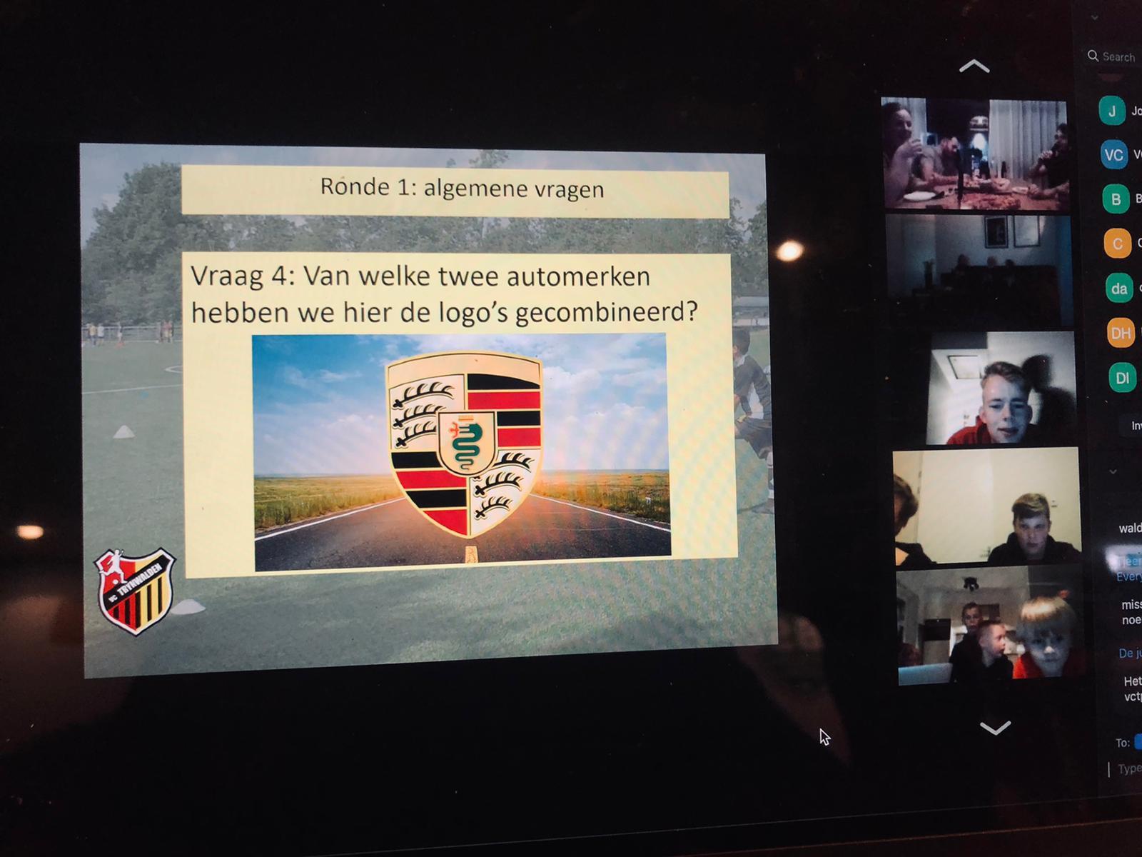 Team Vouwfiets winnaar eerste online pubquiz VC Trynwalden